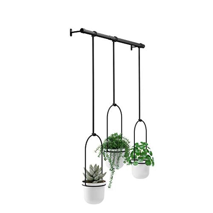 Umbra 1011748-660 Hanging Planter, 18/8 Stainless Steel, White, Uni