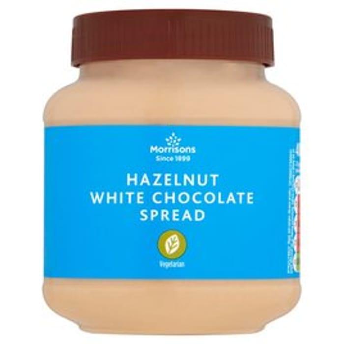 Morrisons White Chocolate & Hazelnut Spread - KINDER BUENO DUPE