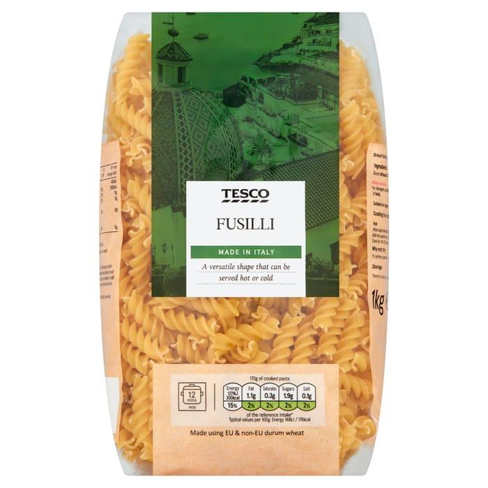 Tesco Fusilli Pasta Twists 1Kg