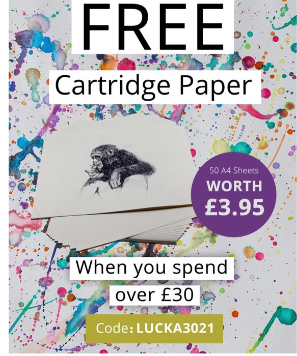 Free Cartridge Paper on Spend above £30 from Artifolk
