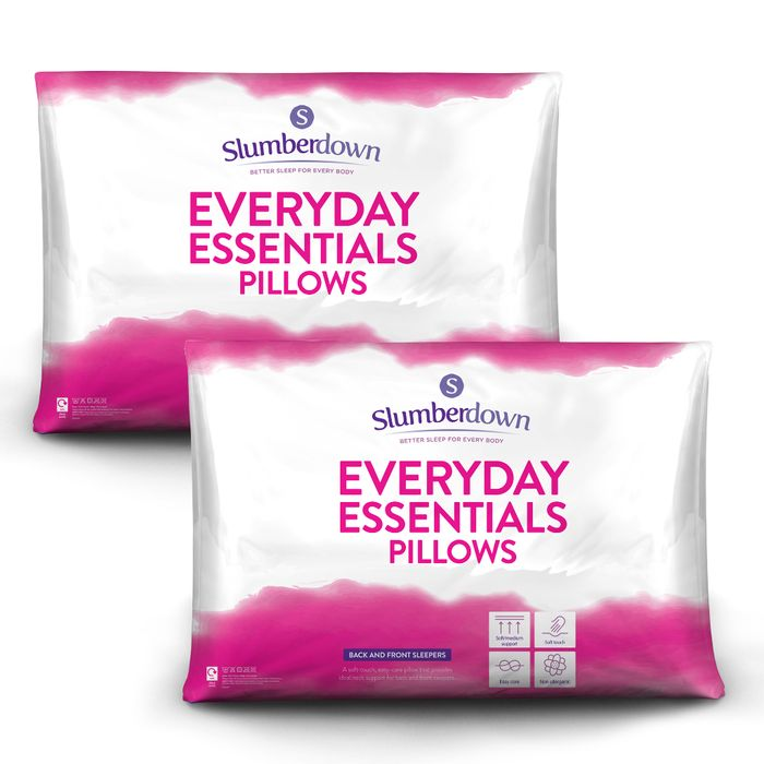 CHEAP! BOGOF - 4 Slumberdown Medium Support Pillows £13.99 Delivered