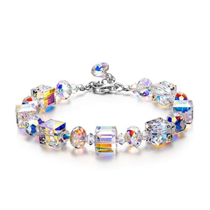 DEAL STACK - Susan Y Aurora Crystal Bracelets + 5% Coupon