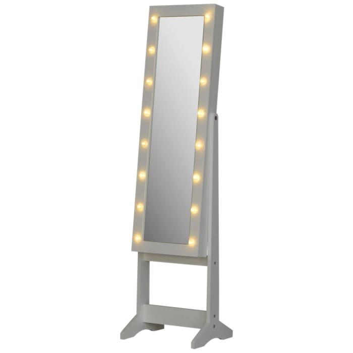 Free Standing LED Storage Mirror