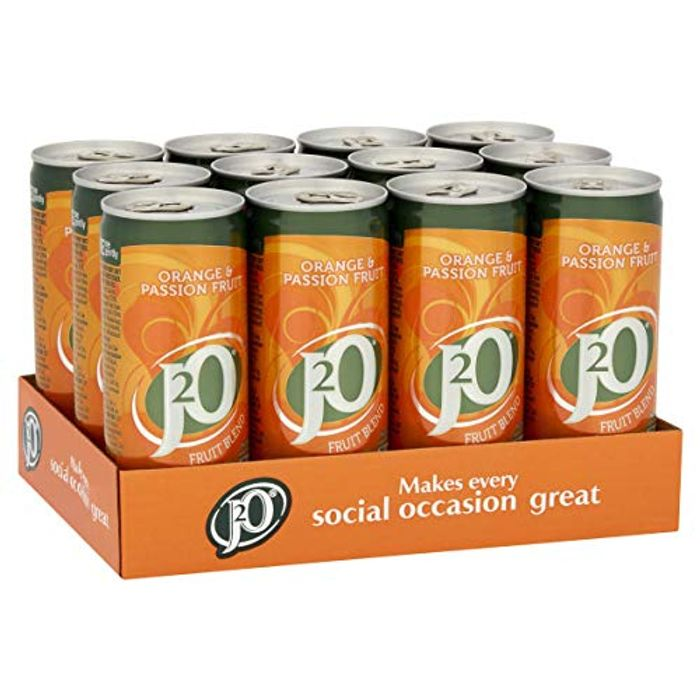 J2O Orange and Passionfruit, 12 X 250ml Cans - Free Prime Delivery