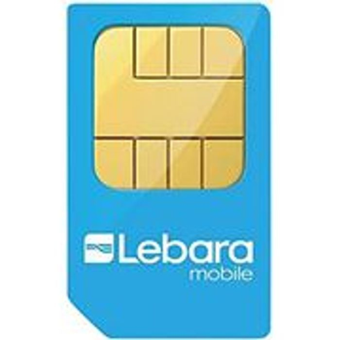 Lebara Mobile No Contract Double Data Sim Only - 20GB £10 / 30GB £15