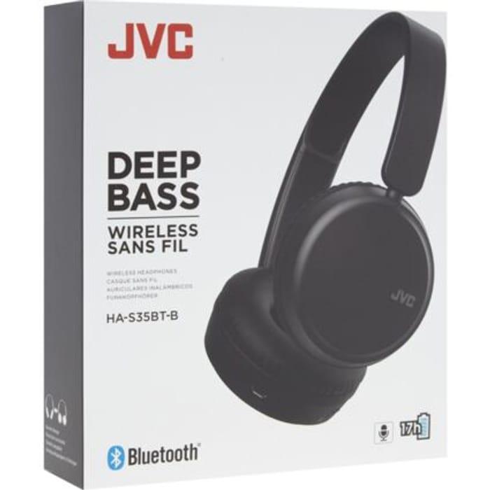 JVC Black Deep Bass Wireless Headphones