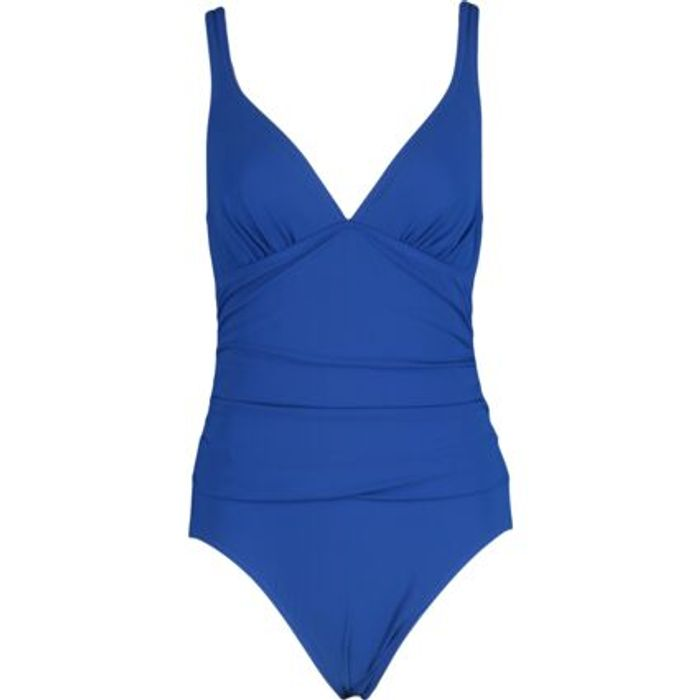 PROFILE by GOTTEX Blue Ruched Swimsuit