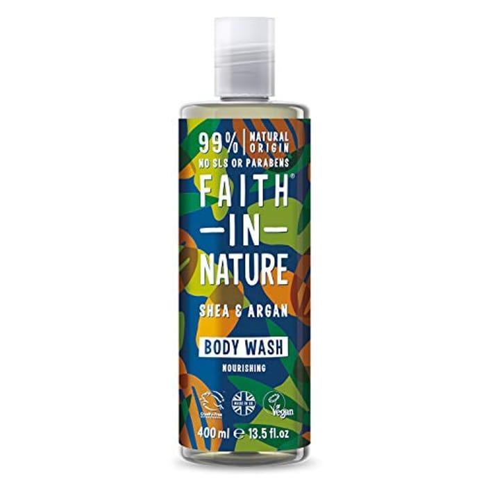 Faith in Nature Natural Shea & Argan Body Wash, Nourishing, 400ml