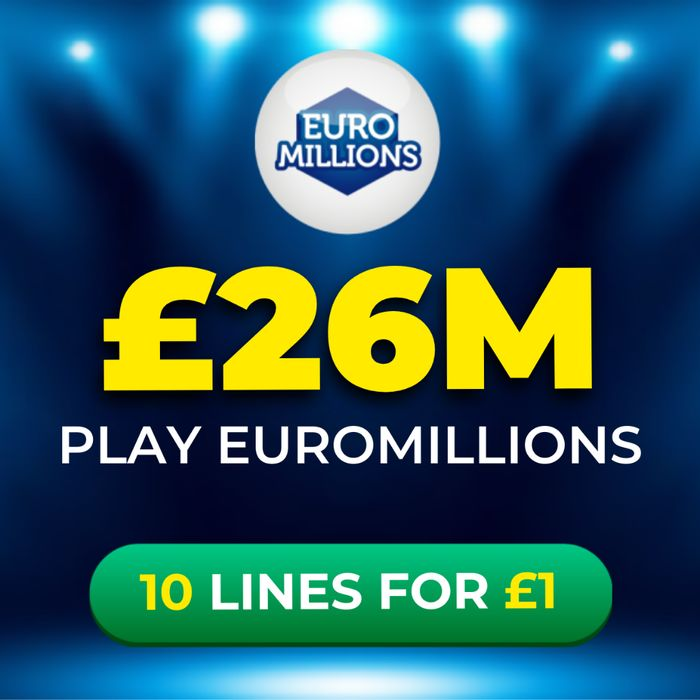 Euromillions £26 Million Jackpot 10 Lines for Just £1 At Lottosocial