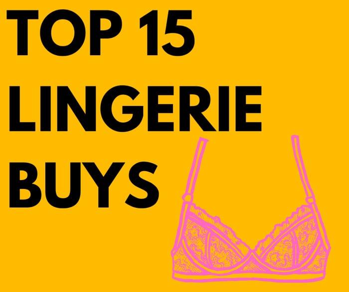 15 Lingerie & Underwear Deals From £4