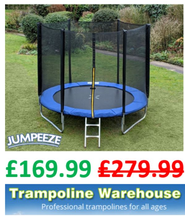 Jumpeeze Blue 8ft Trampoline Package + FREE DELIVERY