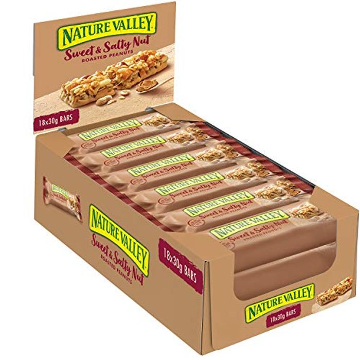 Nature Valley Sweet and Salty Nut Peanut Cereal Bars 18 X 30g