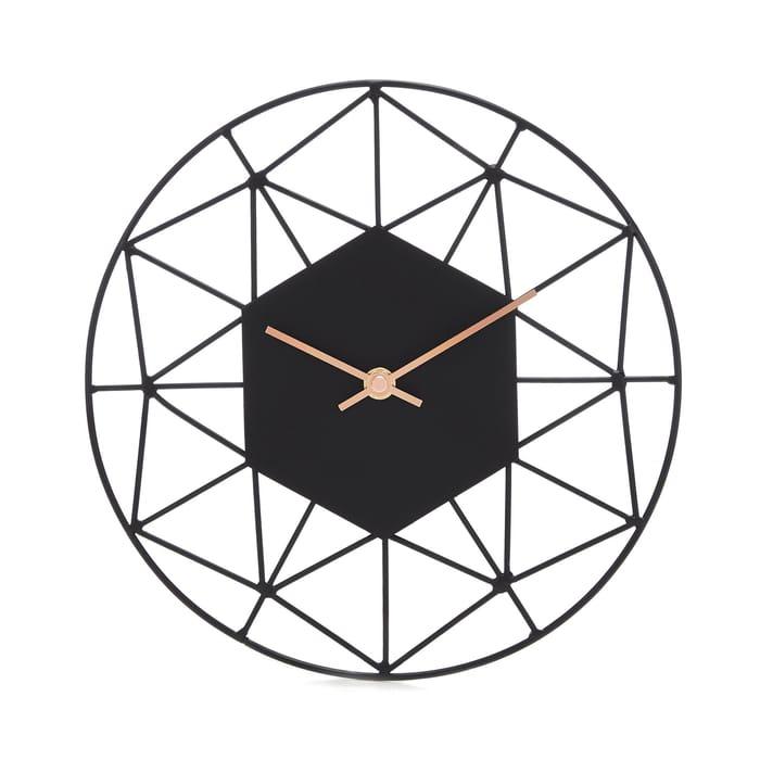 Debenhams - Black Wire round Wall Clock