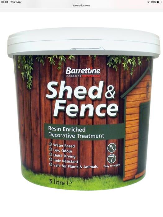 Shed & Fence Treatment 5L Urban Grey