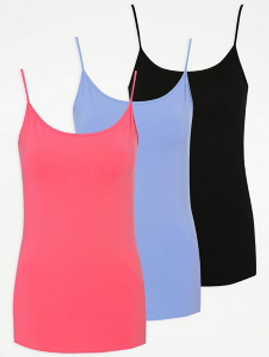 Bright Jersey Cami Vest Tops 3 Pack