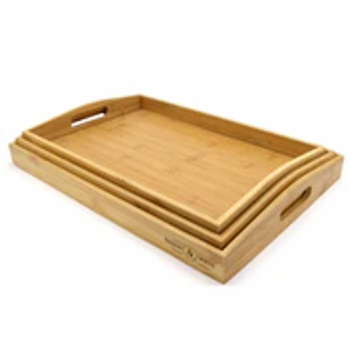 Bamboo Serving Trays - Set of 3 | M&W
