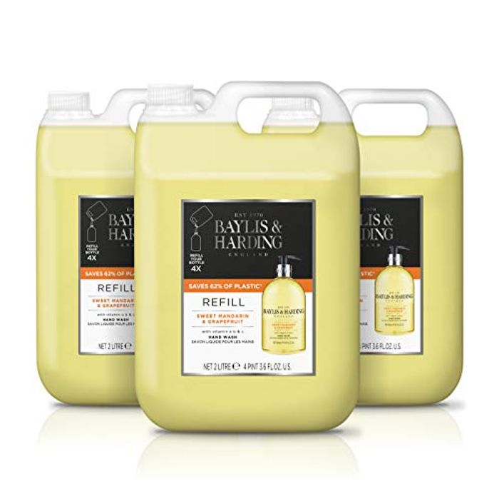 Price Drop - Baylis & Harding Hand Wash Refill (Pack of 3, Total 6 Litres)