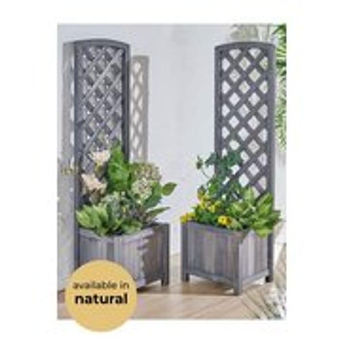 Set of 2 Narrow Trellis Planters