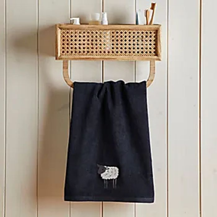 100% Cotton Embroidered Sheep Hand Towel