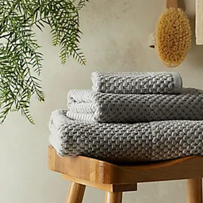 Popcorn Texture 100% Cotton Face Towel W/Matching Hand & Bath Towel