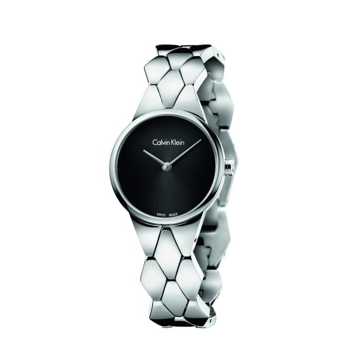 Calvin Klein - Black and Silver 'Snake' Watch - K6E23141