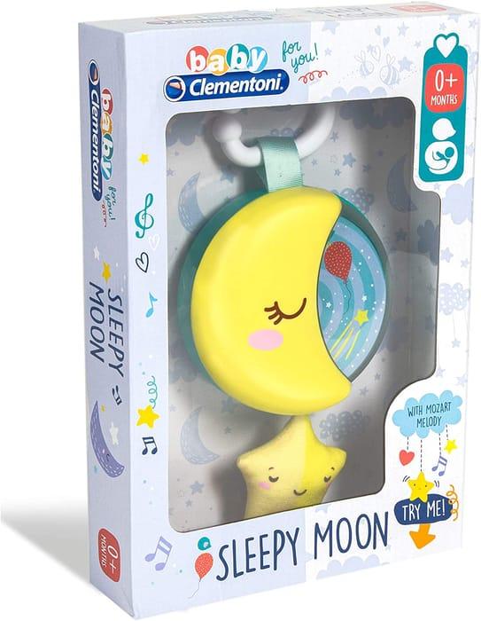 Clementoni 17323 Sleepy Moon You-17323-Plush Carillon Sleeping-New-Born Baby