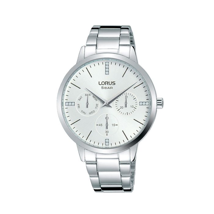 Lorus - White and Silver Dress Watch - RP633DX9
