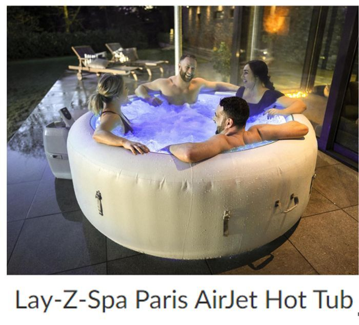 Lay-Z-Spa Paris AirJet Hot Tub for 4-6 Adults - PRE-ORDER FOR JUNE