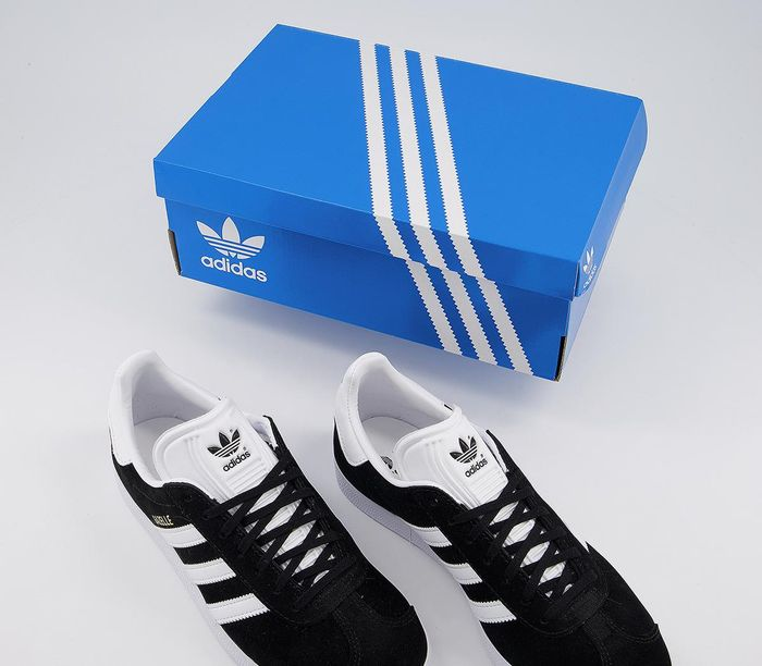 Adidas Gazelle Trainers Core Black White £45.00 save 36% £3.99 Delivery