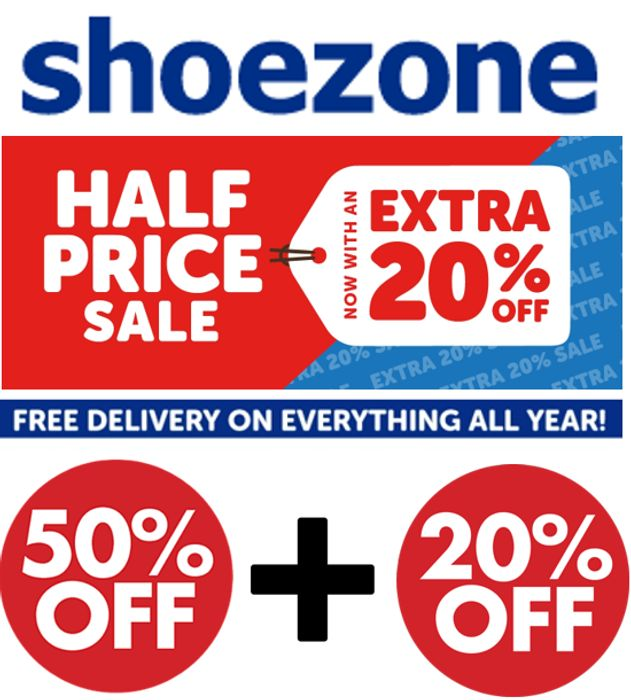 Shoezone | Sale on Sale | 50% off + Extra 20% off | Womens Mens & Kids