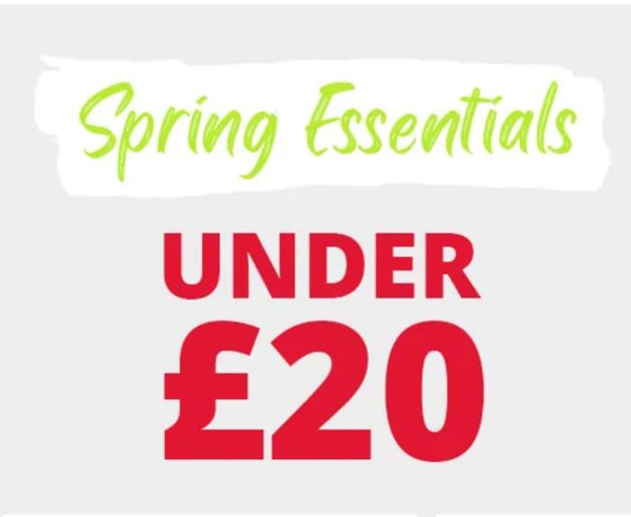 MandM Direct Spring Essentials Under £20 Inc. Adidas, Converse & Levi's