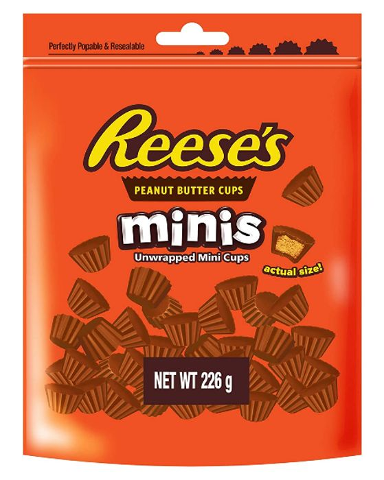 Price Drop - Reeses Mini Peanut Butter Cups Pouch 226g
