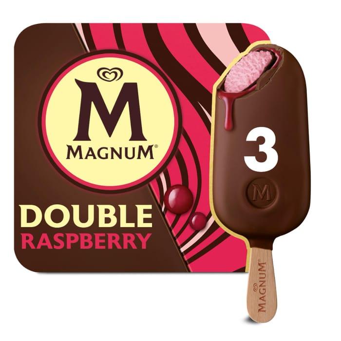 Magnum Double Raspberry Ice Cream 3x88ml
