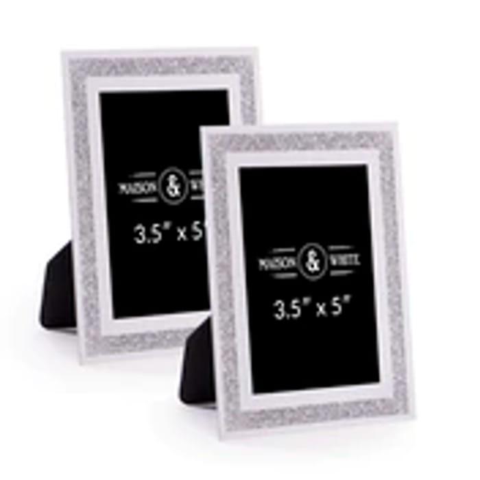 Set of 2 Sparkle Glass Frames - 5x3.5