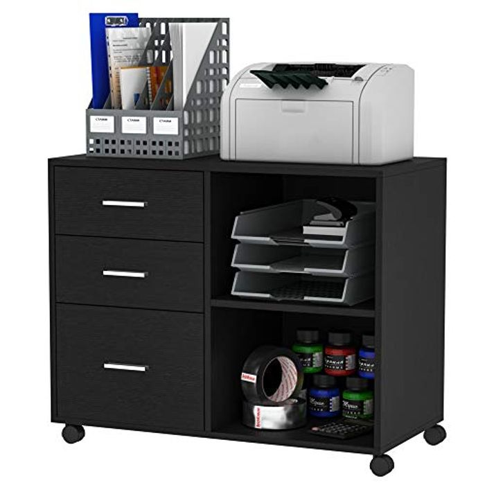 LIGHTNING DEAL - HOMCOM Freestanding Printer Stand Office Desk Unit
