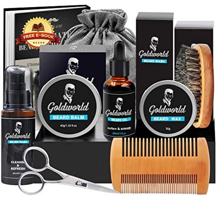 DEAL STACK - Beard Grooming Kit + £5 Coupon