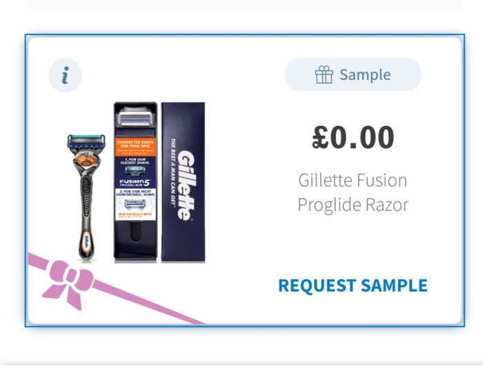 Free Gillette fusion proglide razor