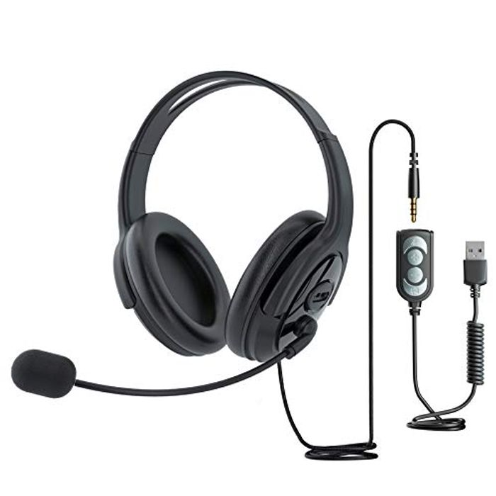 DEAL STACK - TINGDA USB Headset with Noise-Canceling Microphone + £12 Coupon