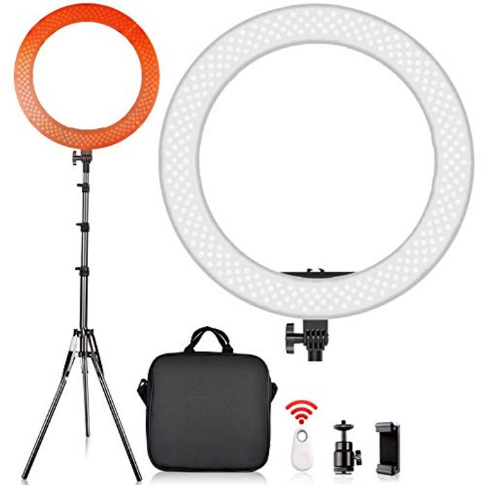 "12"" LED Ring Light with Tripod Stand"