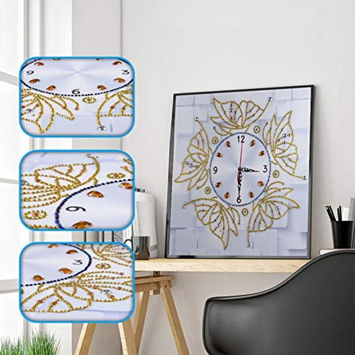 DIY 5D Diamond Painting Clock Kit (Various Styles)