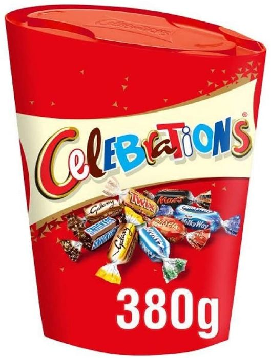 Celebrations LARGE 380g Chocolate Box, (Maltesers, Galaxy, Snickers and More)