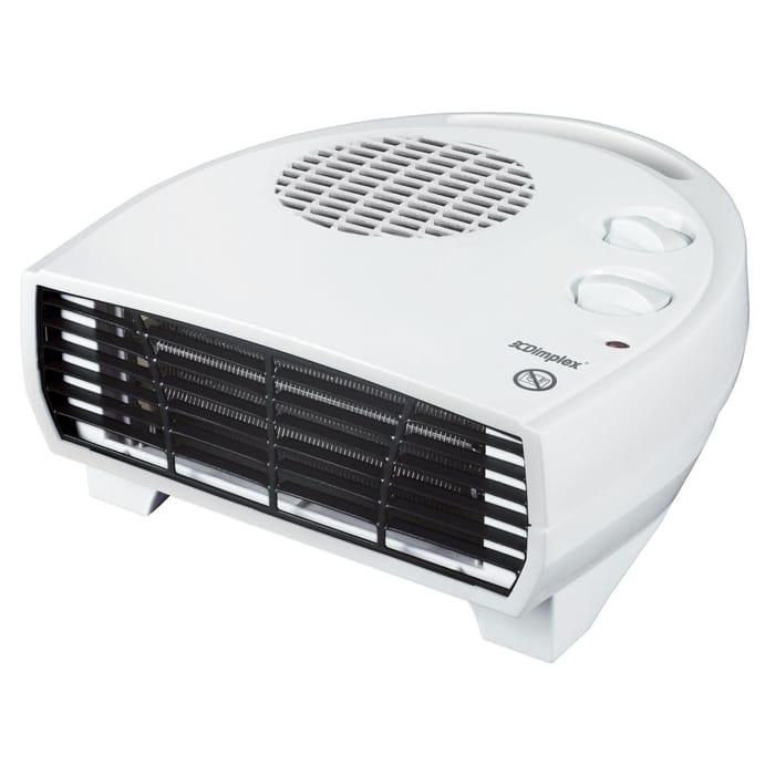 Dimplex - White 2kW Flat Fan Heater DXFF20TSN