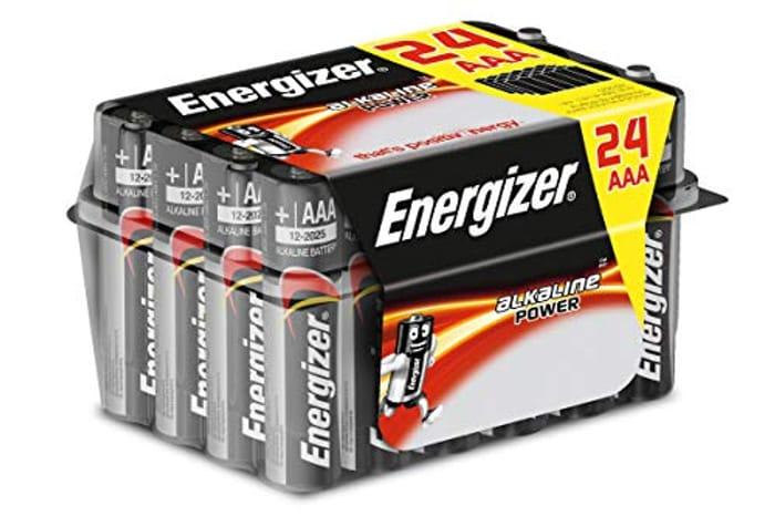 Energizer AAA Batteries, Alkaline Power, 24 Pack