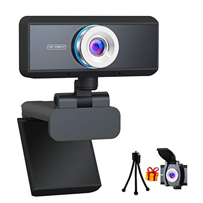 (Deal Stack) Webcam with Microphone for PC
