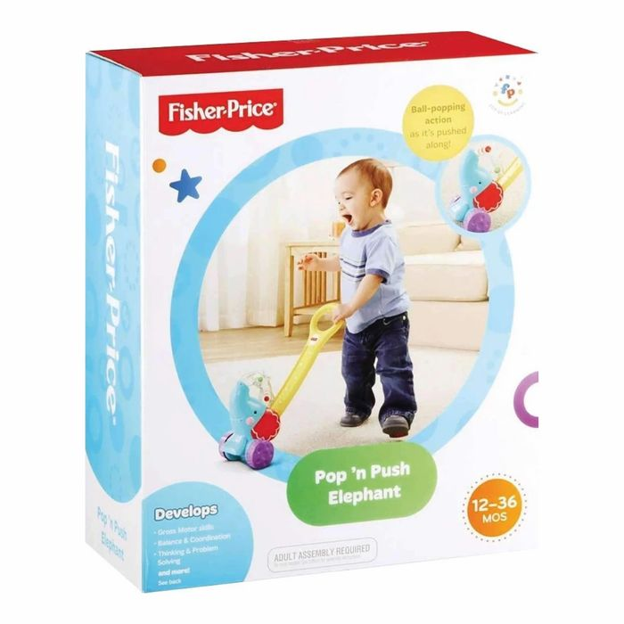 CHEAP! Fisher Price Pop and Push Elephant