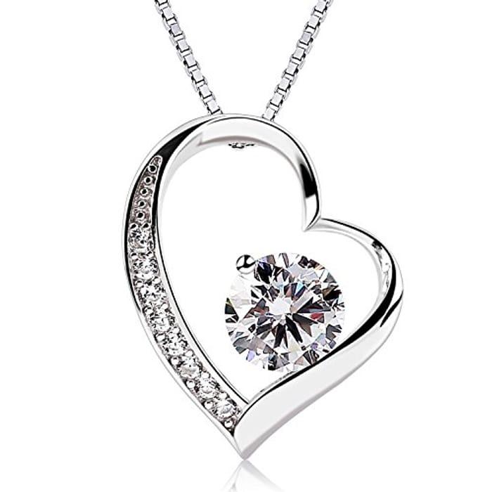 B.Catcher Women Necklace Forver Love Heart Pendant Necklace