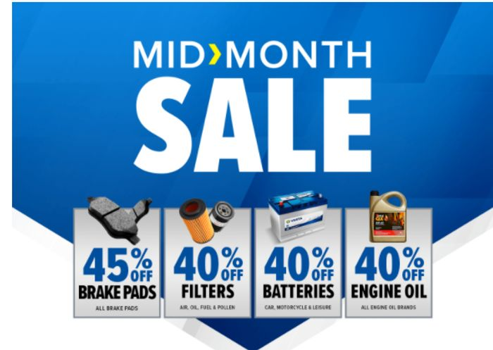 Mid Month Sale: Up to 45% off