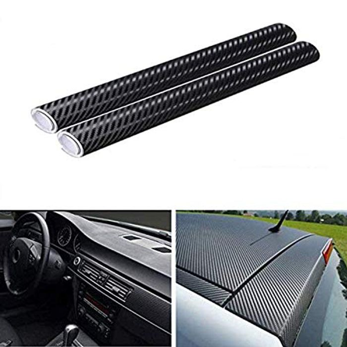 DEAL STACK - Lypumso Black 3D Carbon Fiber Self Adhesive Film(2pcs) + £3 Coupon