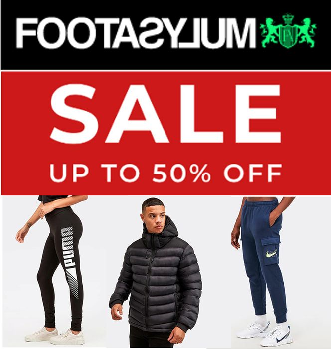 FOOTASYLUM SALE - up to 50% off NIKE, Converse, Adidas, Vans, New Balance