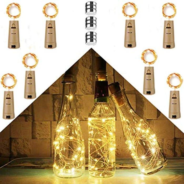 8 Pack LED Cork Bottle Lights